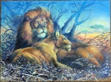 "Картина ""Царь с царицей наблюдают"" холст масло."