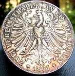 2 Талера 1861 р. Франкфурт photo 4