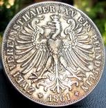 2 Талера 1861 р. Франкфурт photo 5