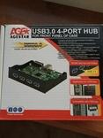USB 3.0 4-port hub в системный блок новый с 1 грн.