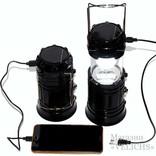 Фонарик трансформер Рower bank солнечная батарея JH-5700T (чёрный)