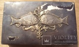 Серебряная шкатулка\хьюмидор, 426 грамм., фото №3