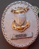 Знак офицера береговой охраны США, 2 звезды, щит и якорь., фото №7