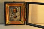 Икона Серафим Саровский оклад серебро 84 пр.