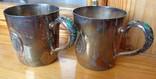 2 Серебряных стакана 925пр. Позолота, Эмаль
