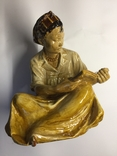 Фигурка статуэтка Узбечка за чтением Гжель 1950-е майолика керамика