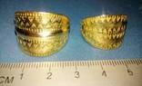 Два Пластинчатых перстня времён Киевской Руси 10-12 век Реплика), фото №8