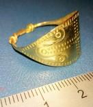 Пластинчатый перстень времён Киевской Руси 10-12 век Реплика), фото №3