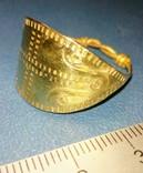 Пластинчатый перстень времён Киевской Руси 10-12 век Реплика), фото №4