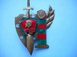Знак ВЛКСМ, защита границы, Ленин,меч и герб СССР-разборный, фото №2