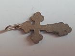 Крестик нательный серебро 925 проба. Вес 2.6, фото №4