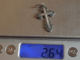 Крестик нательный серебро 925 проба. Вес 2.6, фото №6