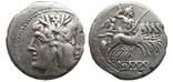 Ранний республиканский денарий 212 г. до н.э.