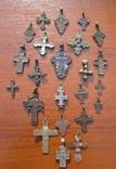 Коллекция нательных крестиков 23 шт.