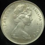 Багамы 1 доллара 1966 Unc 18,4 грамм серебро