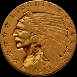 2,5 долари США 1913 року, «Індіанець», золото