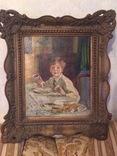 Старая картина с подписью