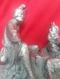 Сккульптурная композиция к сказке ''О Попе и работнике его Балде''