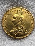 5 фунтов, Великобритания, 1887г. photo 2