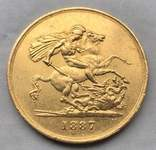 5 фунтов, Великобритания, 1887г. photo 4