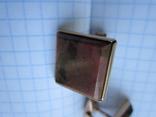 Запонки серебро 875 звезда + 2 клейма + позолота 15г., фото №3