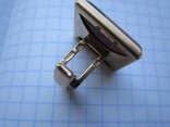 Запонки серебро 875 звезда + 2 клейма + позолота 15г., фото №8