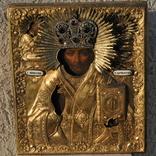 Икона С.Николай Чудотворец 1840-41гг.Оклад серебро 84 пр.310*270 мм. photo 1