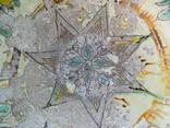 Велика глибока керамічна миска Ø34см Кути, фото №3