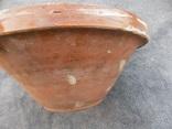 Велика глибока керамічна миска Ø34см Кути, фото №6