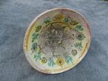 Велика глибока керамічна миска Ø34см Кути, фото №9