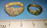 Два средневековых кольца-листики, фото №2