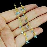 Серьги с голубыми топазами, фото №4