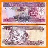 Соломоновы о-ва 10 долларов 2009 г.UNC, фото №2