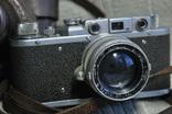 ФЭД Зоркий, 1948 год № 01595, объектив ЗК 1948 год №004452, Красногорский. photo 2