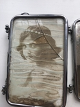 Старая раскладная фоторамка - зеркало, фото №4