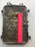 Старая раскладная фоторамка - зеркало, фото №6