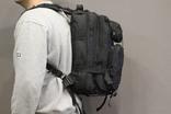Тактический (городской) рюкзак Oxford 600D с системой M.O.L.L.E Black (ta25 черный)