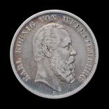 5 Марок 1876 Карл, Вюртемберг photo 1
