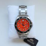 Японские часы дайвер Orient Mako XL FEM75001MW оранжевый