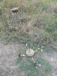 Латунна ел.люстра в стилі арт-деко, фото №3