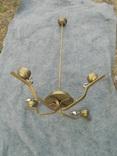 Латунна ел.люстра в стилі арт-деко, фото №2