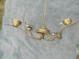 Латунна ел.люстра в стилі арт-деко, фото №6