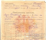 Повідомлення шкільне Коломия табель 3 шт 1922-1923-1924/5, фото №6