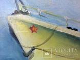 Картина эсминец вмф ссср, масло, холст, 43х73, О.Олешко 1977р. photo 3