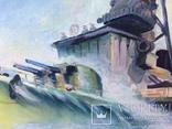 Картина эсминец вмф ссср, масло, холст, 43х73, О.Олешко 1977р. photo 5