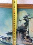 Картина эсминец вмф ссср, масло, холст, 43х73, О.Олешко 1977р. photo 6