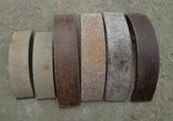 Тормозные колодки разных размеров СССР с деревянным ящиком с рукояткой., фото №6