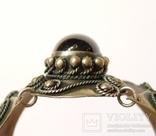 Винтажный браслет, филигрань, зернь, камень. Ручная работа, не литьё. photo 7
