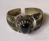 Винтажный браслет, филигрань, зернь, камень. Ручная работа, не литьё. photo 12