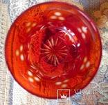 Графин СССР рубиновое резное стекло + 2 стакана. Высота - 32 см. photo 6